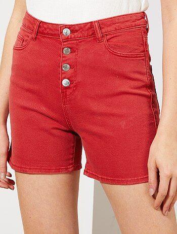 Korte Broek Dames Maat 42.Shorts Dames Betaalbare Spijkershorts En Bermuda S Kiabi