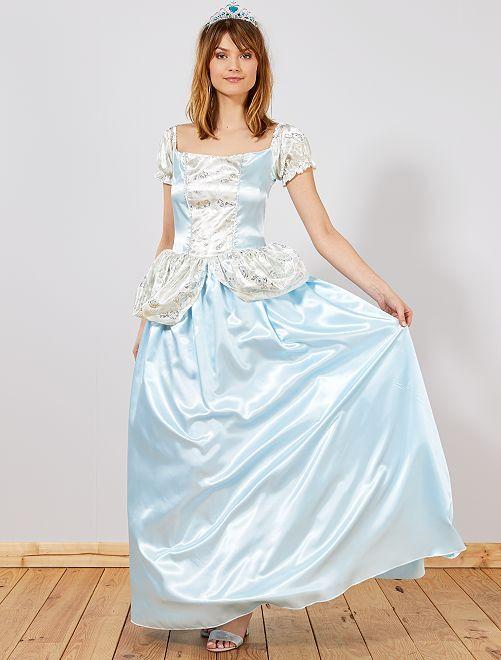 Verkleedkostuum blauwe prinses                             blauw Dames