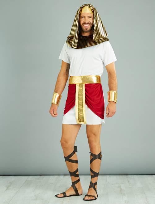 Verkleedkostuum Egyptische koning                             wit