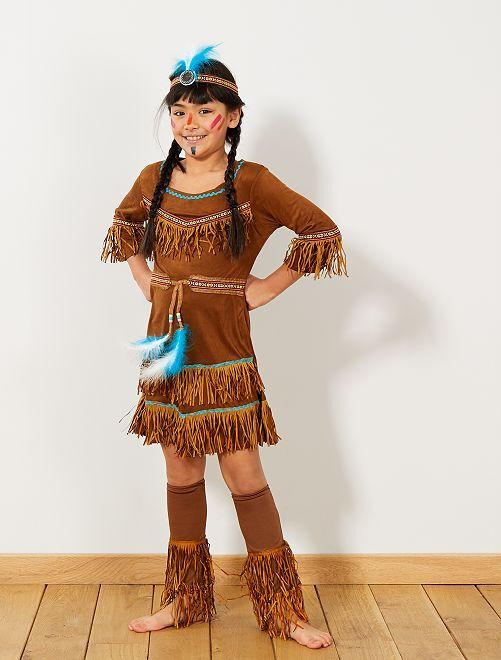 Verkleedkostuum indianenmeisje                             MARRON_ Kinderen