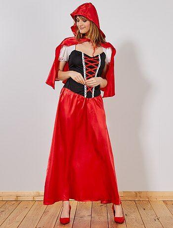 Verkleedkostuum Roodkapje voor dames - Kiabi