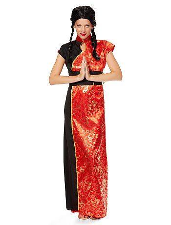 Dames - Verkleedkostuum traditionele Chinese jurk voor dames - Kiabi