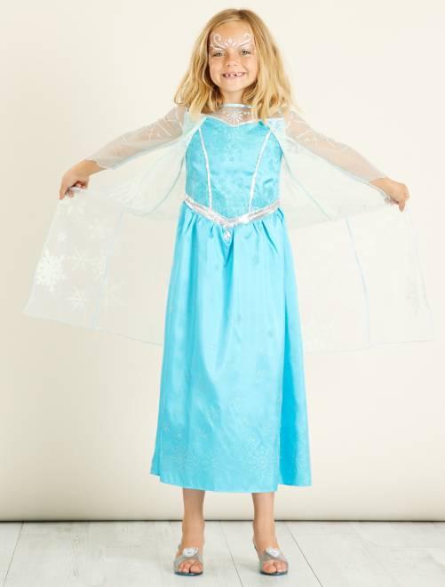 Verkleedkostuum van 'Elsa' van 'Frozen'                             blauw Kinderen