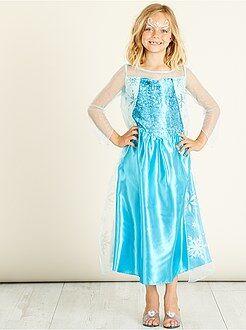 Kinder verkleedkleding - Verkleedkostuum van 'Elsa' van 'Frozen'