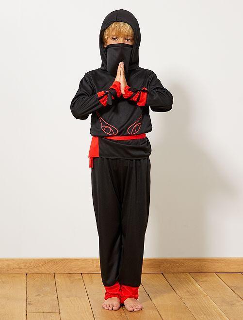 Verkleedkostuum van Ninja-krijger                             zwart / rood