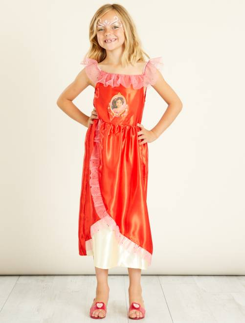 Verkleedkostuum van prinses 'Elena van Avalor'                             rood Kinderen