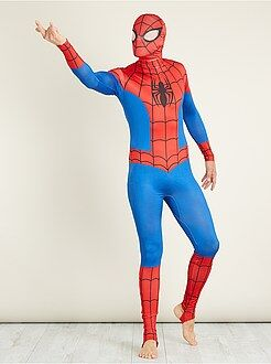 Heren verkleedkleding - Verkleedkostuum van 'Spider-Man' tweede huid met bivakmuts