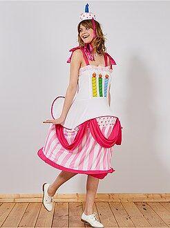 Dames verkleedkleding - Verkleedkostuum verjaardagstaart