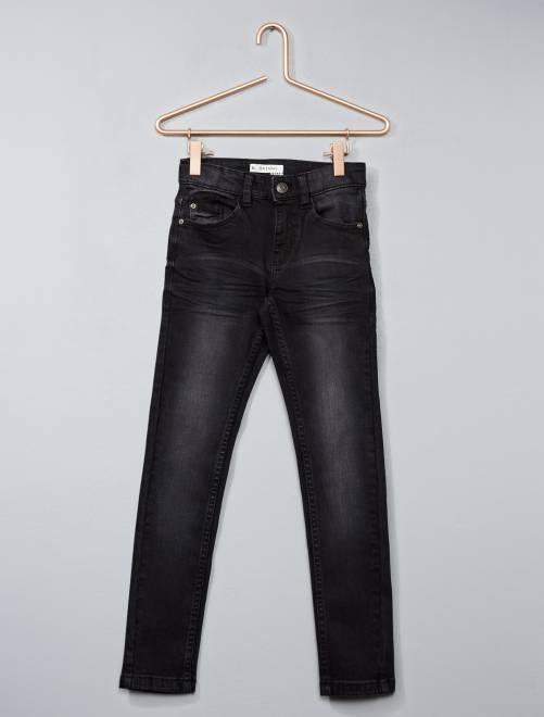 Verwassen skinny jeans                             black denim Kinderkleding jongens