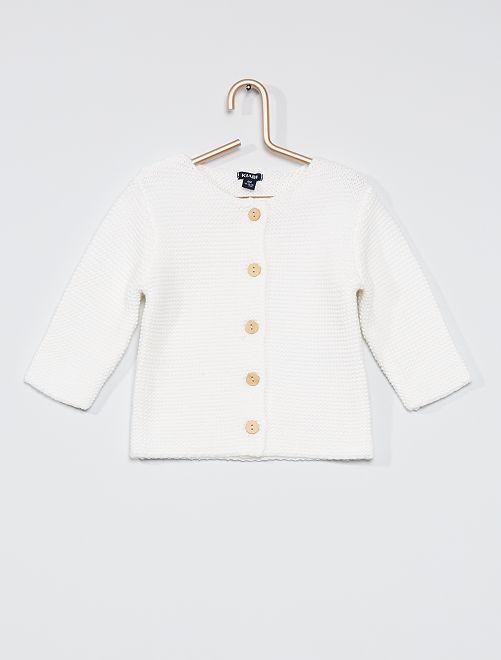 Vest in mossteek 'Ecodesign'                                         sneeuw wit