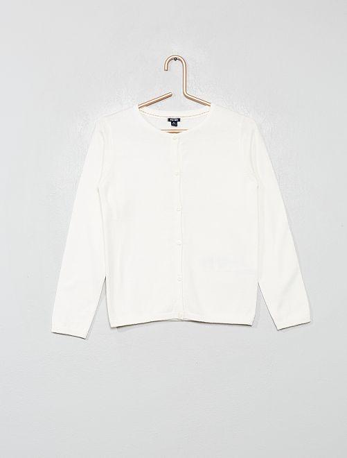 Vest met knopen                                                                     sneeuw wit