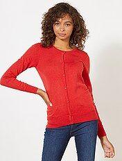 Vest met knopen van fijn tricot