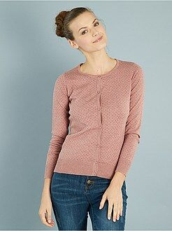 Vest - Vest met knopen van fijn tricot