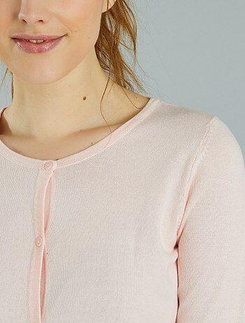 Vest met knopen van fijn tricot - Kiabi