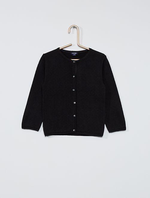 Vest met plumetis                             zwart