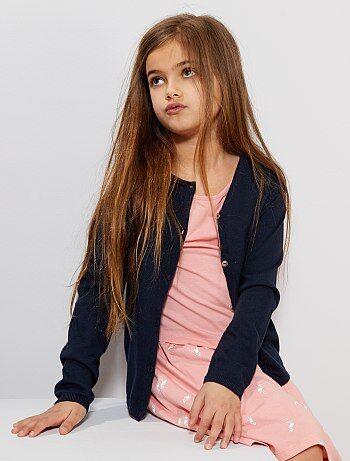 22e77d08174317 Meisjeskleding 3-12 jaar - Vest van fijn tricot - Kiabi