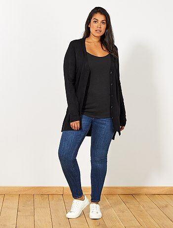 Vest van fijn tricot met knoopjes - Kiabi