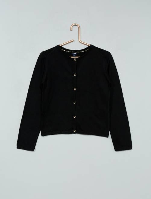 Vest van fijn tricot                                                                                                                 zwart