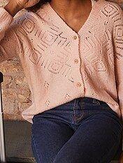 Vest van opengewerkt tricot