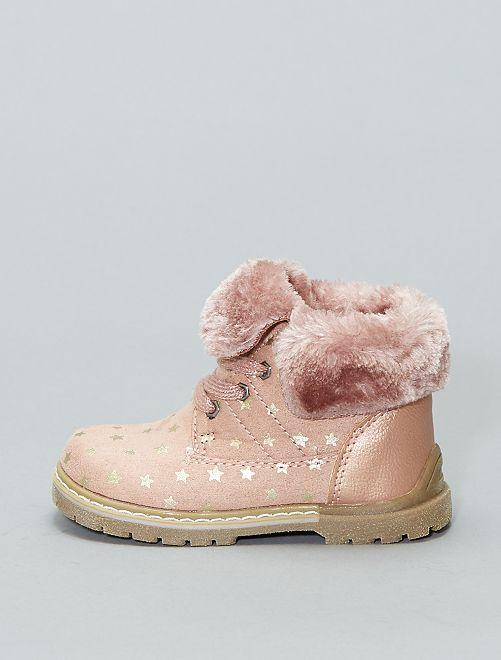 Veterlaarsjes met sterrenprint                             roze Schoenen