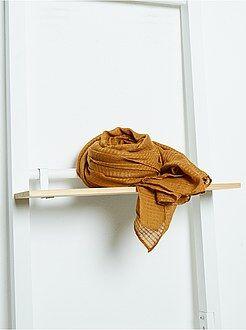 Accessoires - Vierkante sjaal van zachte, glanzende voile
