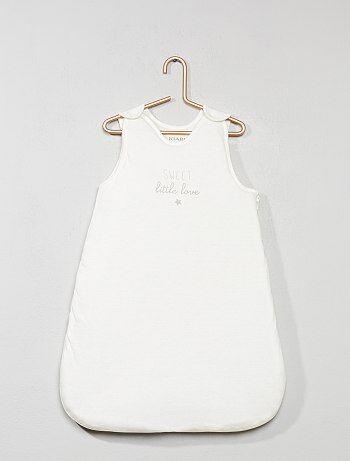 Warme babyslaapzak met print - Kiabi