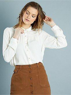 Blouse - Wijde blouse met claudinekraag