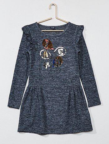 Wijduitlopende jurk met omkeerbare lovertjes - Kiabi