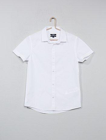 Wit katoenen overhemd - Kiabi