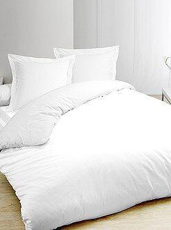 Witte dekbedovertrekset van katoen - Kiabi