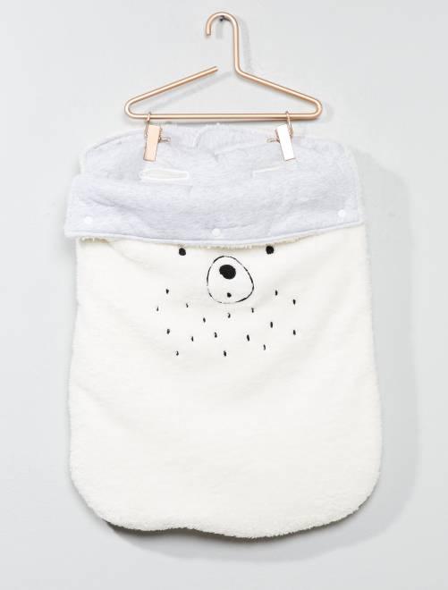 Zachte slaapzak WIT Jongens babykleding