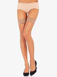 Sokken, panty's - Zelfophoudende kous 'Dim-Up Sublim' van Dim, Glanzende Voile 15D - Kiabi