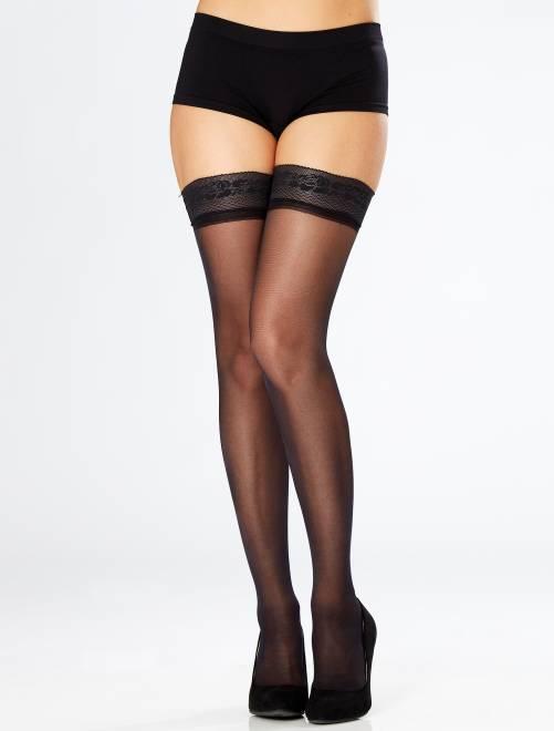 Zelfophoudende kousen Dim Up Beauty van 'DIM' 25 denier                             zwart Lingerie maat s-xxl