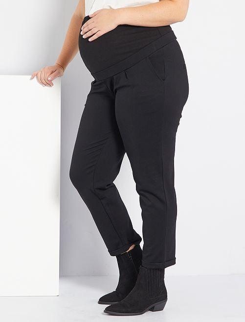 Zwangerschapsbroek van tricot                             zwart
