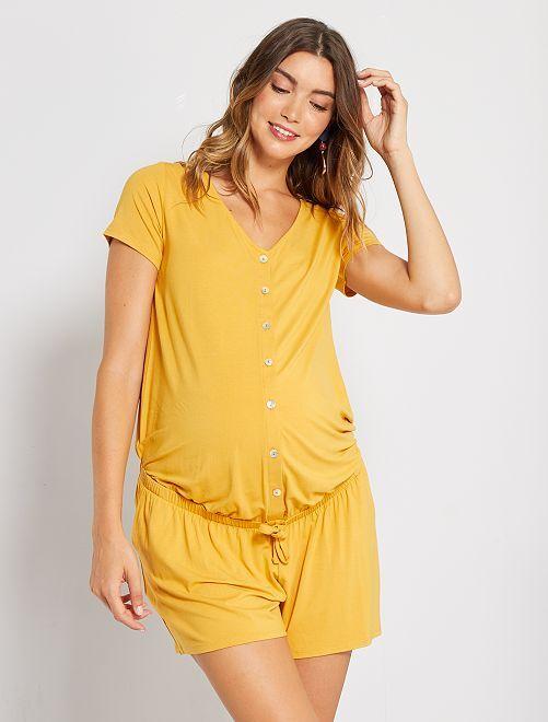 Zwangerschapsplaysuit                     GEEL