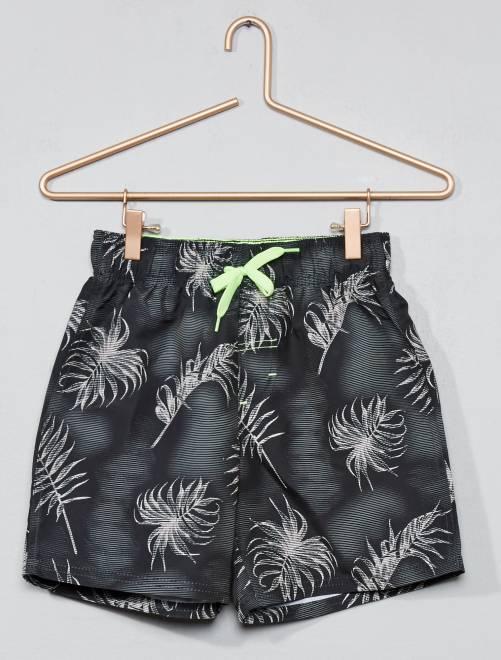 Zwemshort met palmbomenprint                                 GROEN Kinderkleding jongen